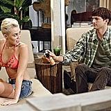 Miley Cyrus wears a bikini on Two and a Half Men.
