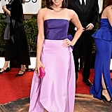 Aubrey Plaza at the Golden Globes 2014