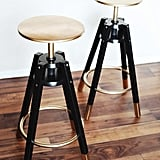 Gold and Black Stools