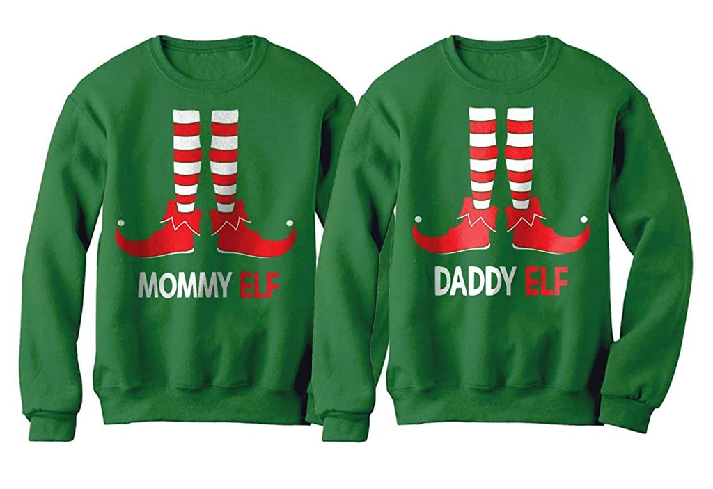 a1d595207b3 Mommy and Daddy Elf Matching Set | Ugly Christmas Sweaters For ...