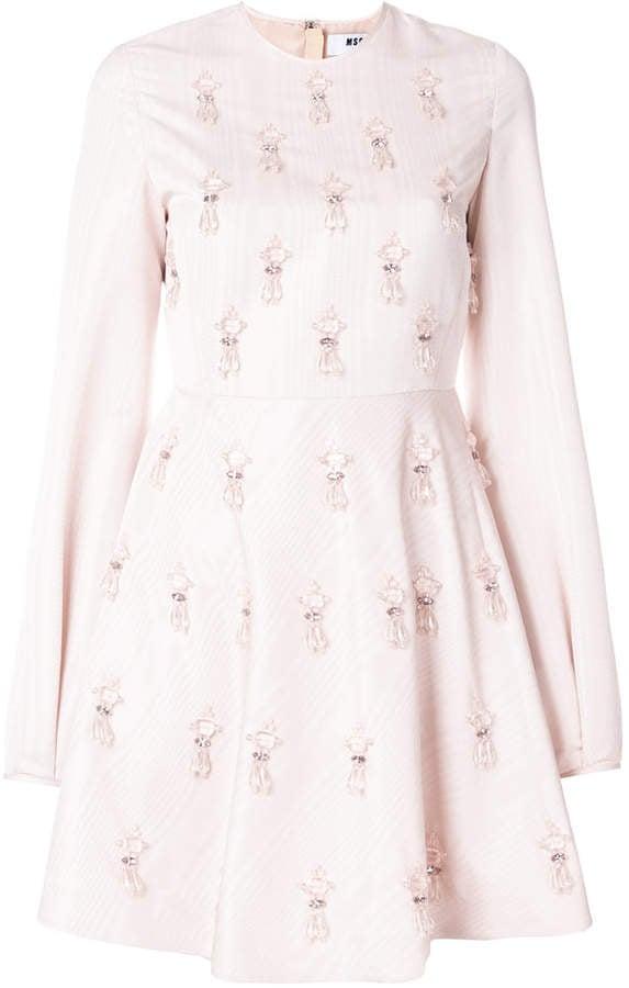MSGM Crystal Dress