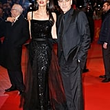 Amal looked so freakin' good in this layered gown.