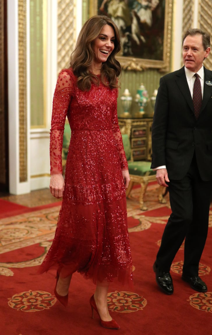 Kate Middleton Wears Red Needle & Thread Dress 17  POPSUGAR Fashion