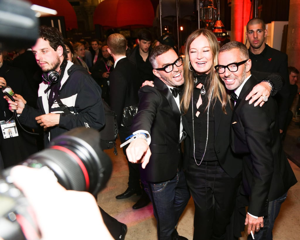 Dean and Dan Caten with Eva Cavalli at the 2013 Life Ball in Vienna, Austria. Source: Benjamin Lozovsky/BFAnyc.com