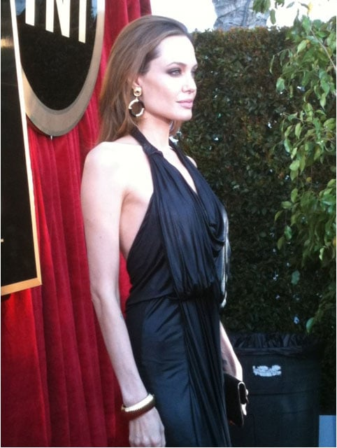 Angelina wowed in a black Jenny Packham dress. Twitter User: SAGawards