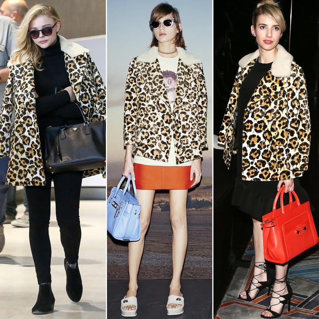 Coach Leopard Coat Spring 2015