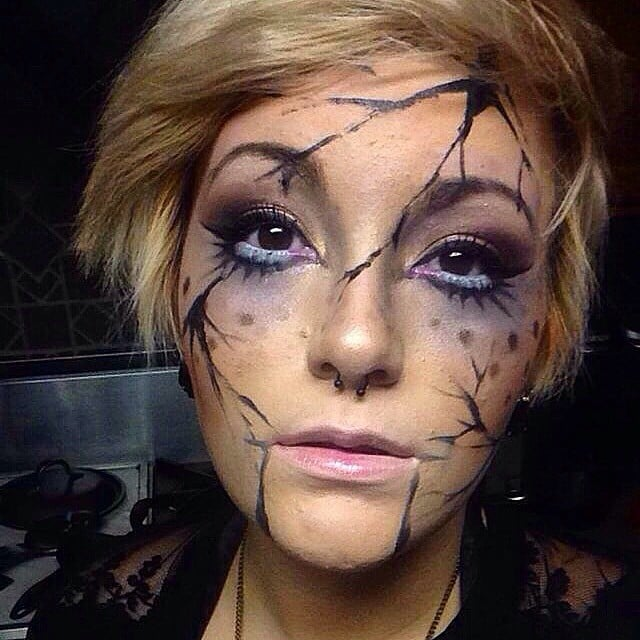 cracked doll makeup popsugar beauty