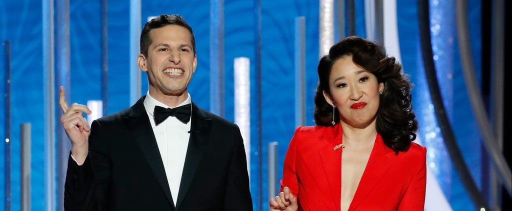 Andy Samberg's Michael B. Jordan Line at the 2019 Globes