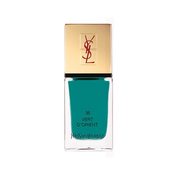 YSL La Laque Couture Vert D'Orient ($25) is a saturated dark turquoise that lends just the right amount of decadence to any manicure.