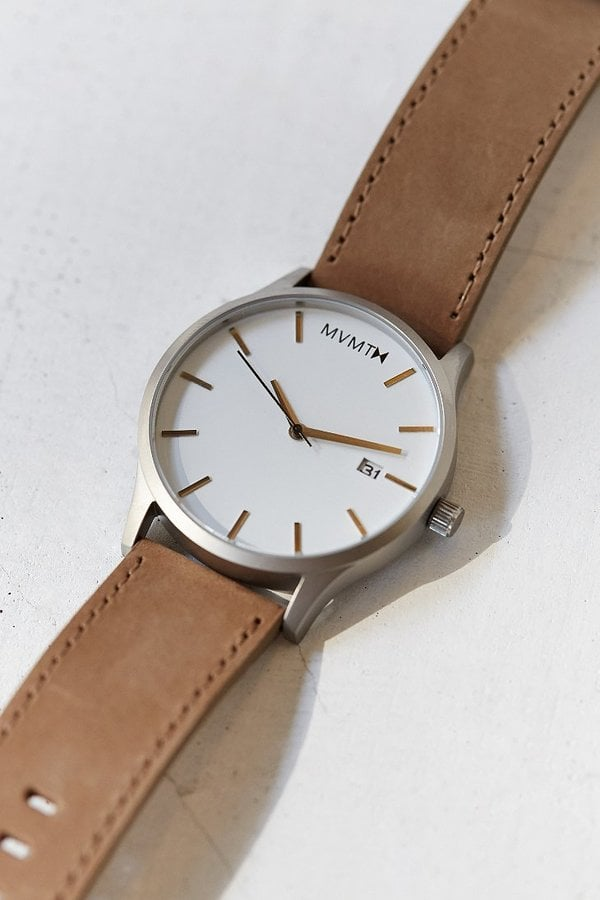 For Him: Leather Watch