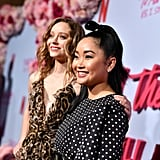 Madeleine Arthur and Lana Condor at the P.S. I Still Love You Premiere in LA
