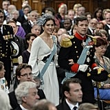 Princess Mary and Prince Frederik of Denmark walked down the aisle at the ceremony.