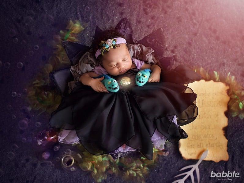 Disney villain newborn photo shoot