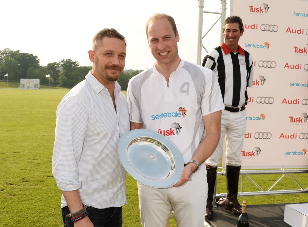 Tom presented Prince William with a trophy on behalf of Team Audi Ultra during the first day of the 2016 Audi Polo Challenge.