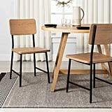 Set of Two Wood and Steel Dining Chair