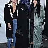 While Khloé and Kylie Bared Skin, Kendall Kept Warm by Bundling Up in a Thick Coat
