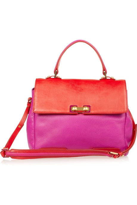 """Bold brights are everywhere for Spring, and Marc Jacobs's fuchsia and red clash-gone-cool handbag is a perfect way to get in on the trend. Not only can you use it to punch up go-to neutrals, but if you're feeling sartorially adventurous, mix it in with floral pants or contrasting hues!"" — Liza Kaplan, senior producer, FabSugar TV  Marc by Marc Jacobs tote ($530)"