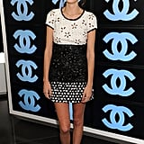 Alexa Chung in Chanel Resort — and the signature Cs.