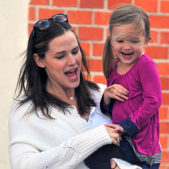Jennifer Garner Laughing With Seraphina Pictures