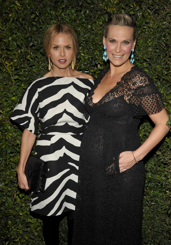 Rachel Zoe and Molly Sims got together at Valentino s 50th anniversary in LA . db024b1b6