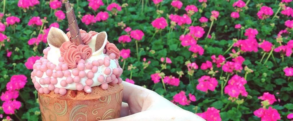 Disney World Rose Gold Unicorn Cupcake