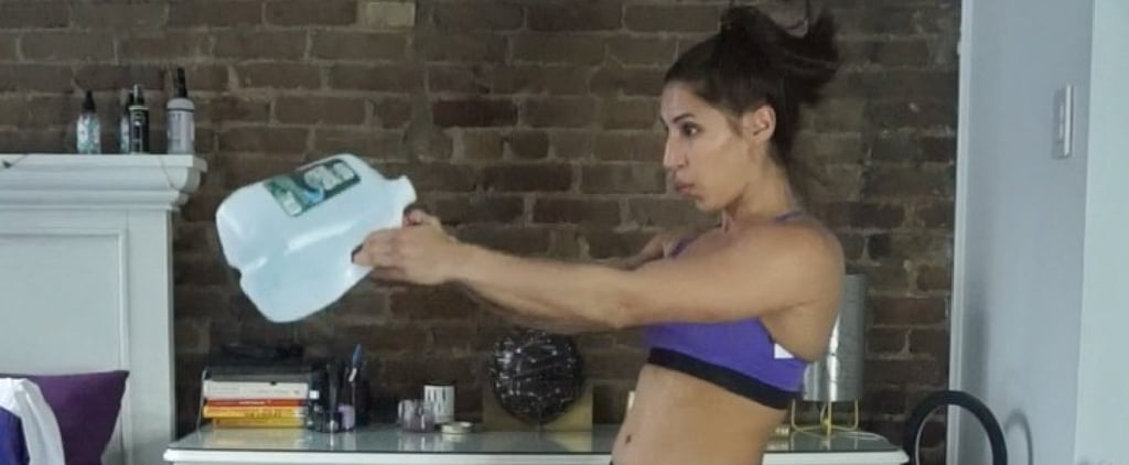Do This Three-Move At-Home Workout With a Water Jug