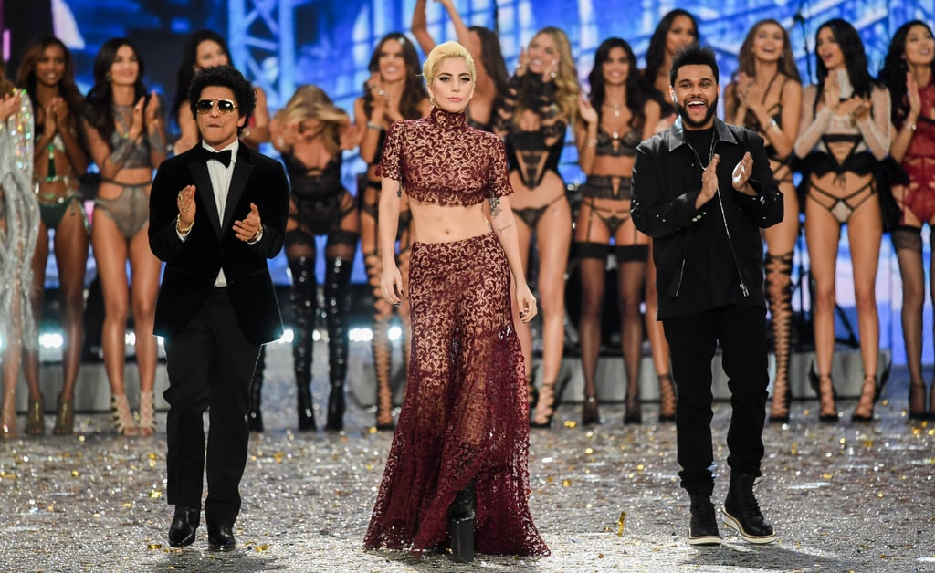 Pictured: Lady Gaga, Bruno Mars, and The Weeknd