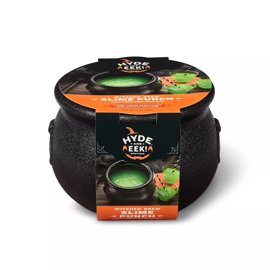Halloween Witches Brew Green Slime Drink Mix in Cauldron