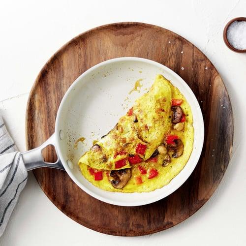 Breakfast: Mushroom-Pepper Omelet