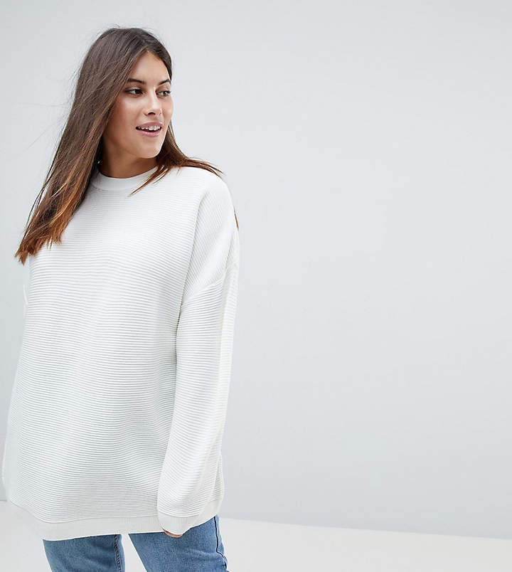 Asos Oversized Sweater in Ripple Stitch ($45)