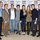 Matthew Lillard, Beau Bridges, George Clooney, Nick Krause, Judy Greer, Shailene Woodley, Alexander Payne and Robert Forrester posed together at a screening of their movie, The Descendants.