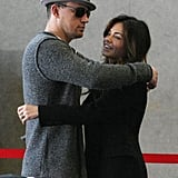 Channing Tatum and Jenna Dewan Celebrate His Big Weekend With a Kiss