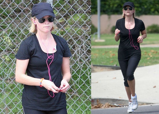 Photos of Reese Witherspoon Jogging in Brentwood