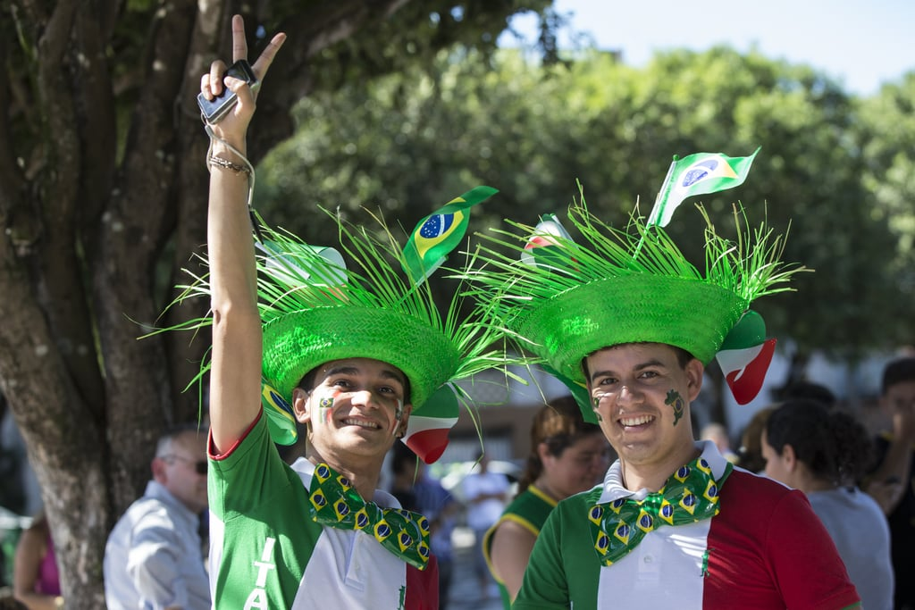 Italian football fans showed their support in Manaus, Brazil.