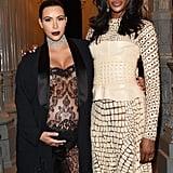 Kim Kardashian and Naomi Campbell