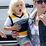 Zuma Rossdale let out a big yawn.