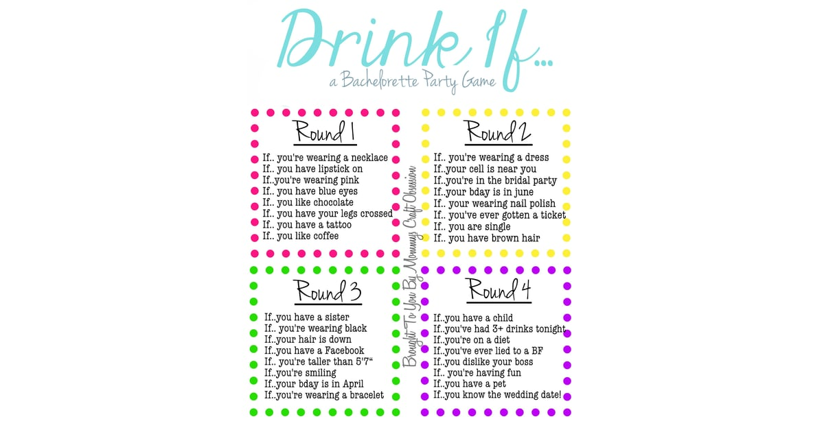photograph relating to Printable Bachelorette Party Games referred to as Ingesting Video game Cost-free Bachelorette Get together Printables