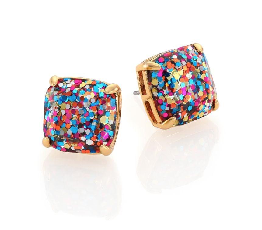 Kate Spade Small Square Glitter Stud Earrings   Glitter Gift Ideas ...
