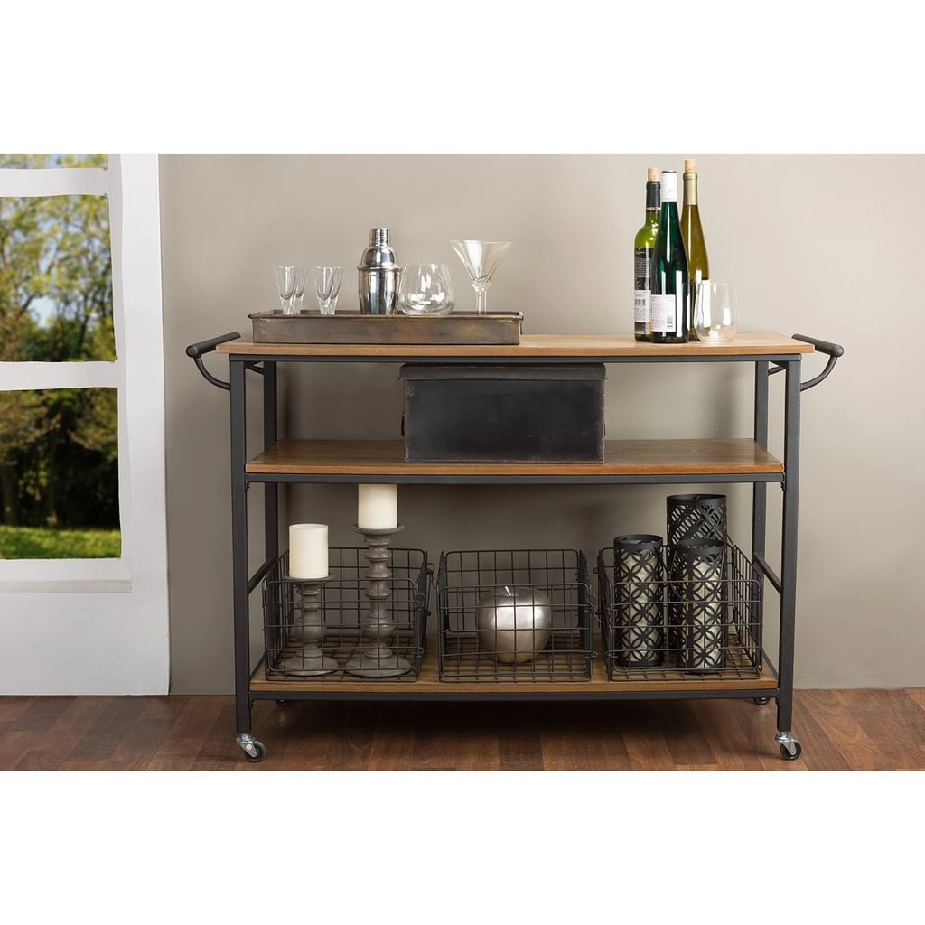Lancashire Wood and Metal Kitchen Cart