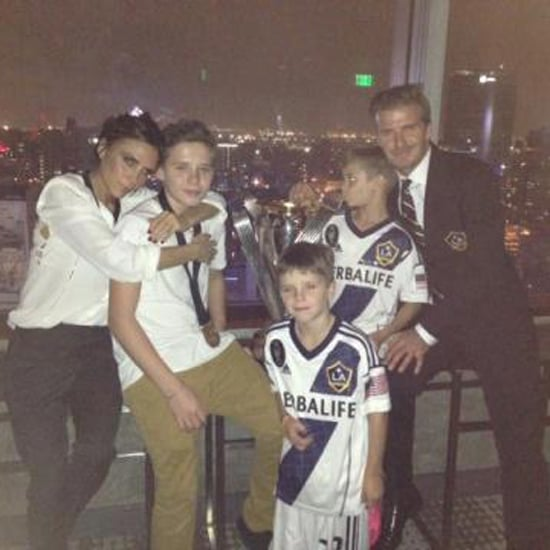 David Beckham Final MLS Galaxy Game Pictures With Family