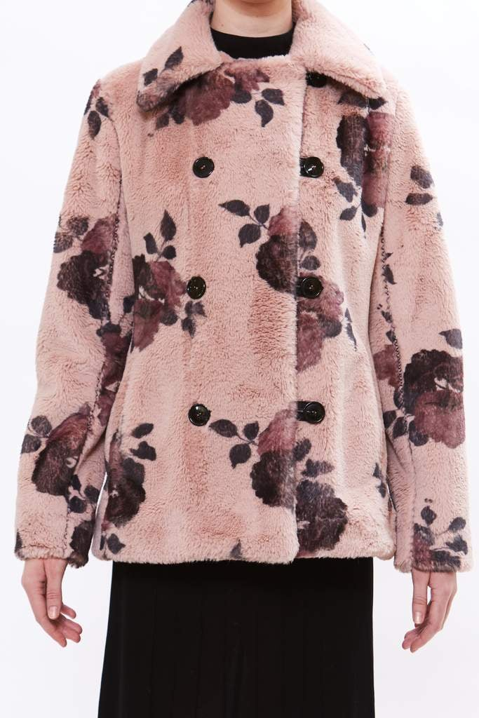 "dusty rose ""Colette"" peacoat"