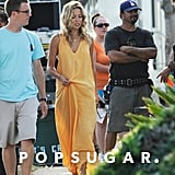 Kate Hudson continued filming Zach Braff's Wish I Was Here on Saturday in LA.