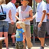 Gwen Stefani with Zuma at Underwood Farm.