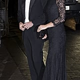 A Black Lace Dress to Match Prince William's Black Tie Best