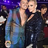 Pictured: Evan Ross and Ashlee Simpson