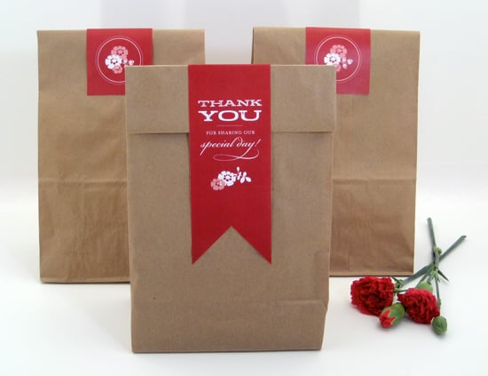Paper Bag Favor Labels