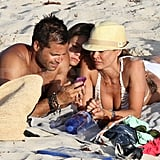 Brooke Burke and David Charvet in St. Barts.