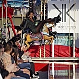 Bre and the other girls had to step onto a moving carousel before strutting down the runway.  Photo courtesy of CW