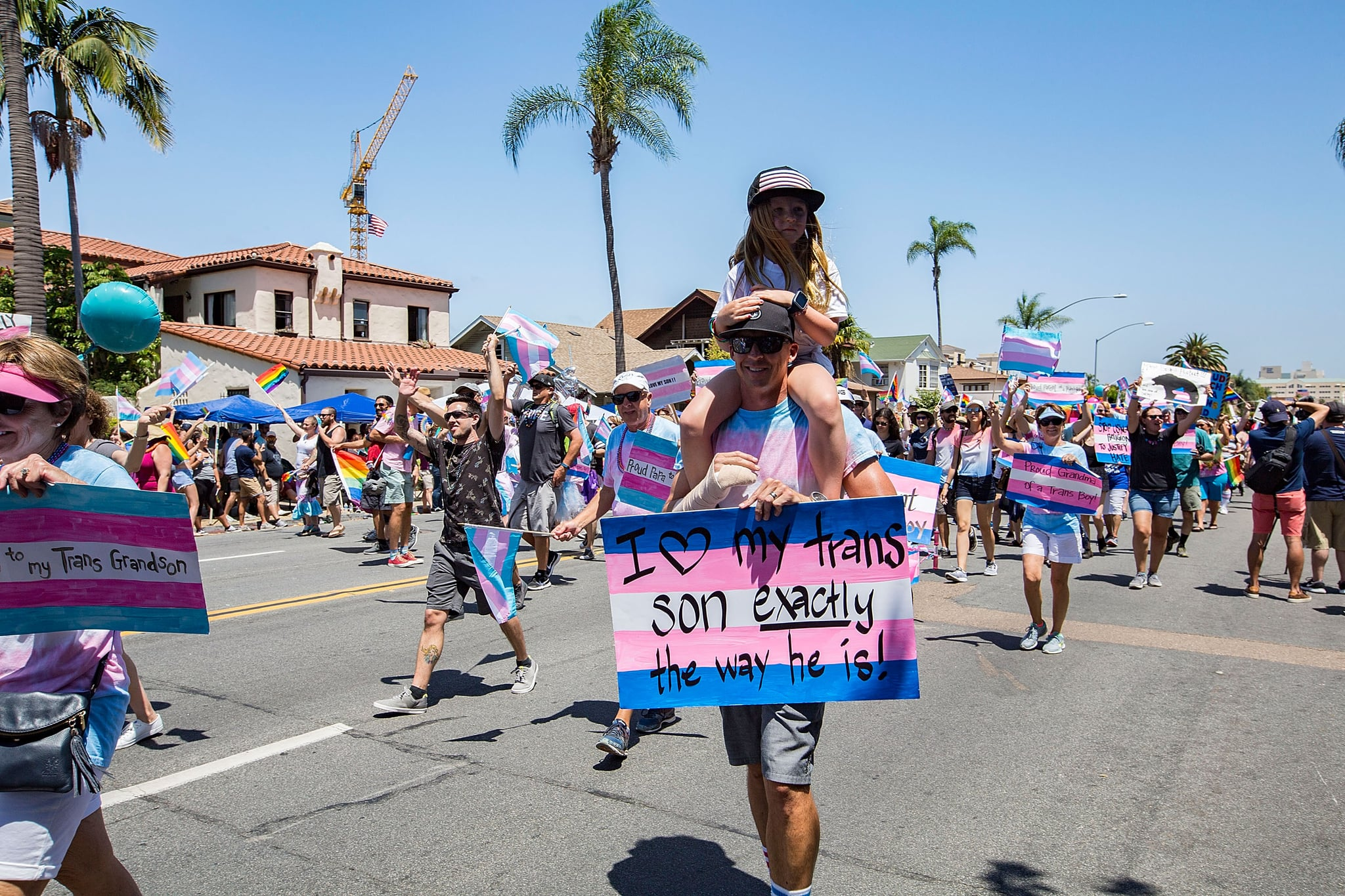 SAN DIEGO, CA - JULY 14:  General view of the atmosphere at the San Diego Pride Parade at Balboa Park on July 14, 2018 in San Diego, California.  (Photo by Daniel Knighton/Getty Images)