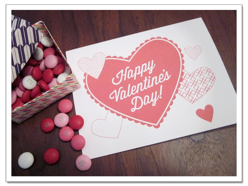 full of hearts valentines printable - Happy Valentines Day Cards Free